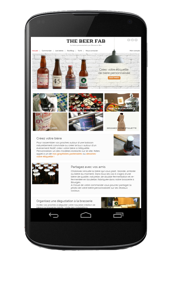 Accueil Beer Fab Android